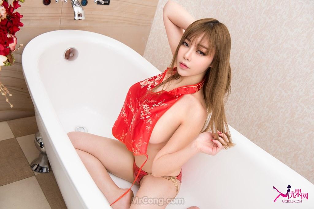 Image MrCong.com-UGIRLS-T014-nguoi-mau-Trung-Quoc-014 in post Ba người mẫu Trung Quốc khoe dáng táo bạo trong bộ ảnh UGIRLS T014