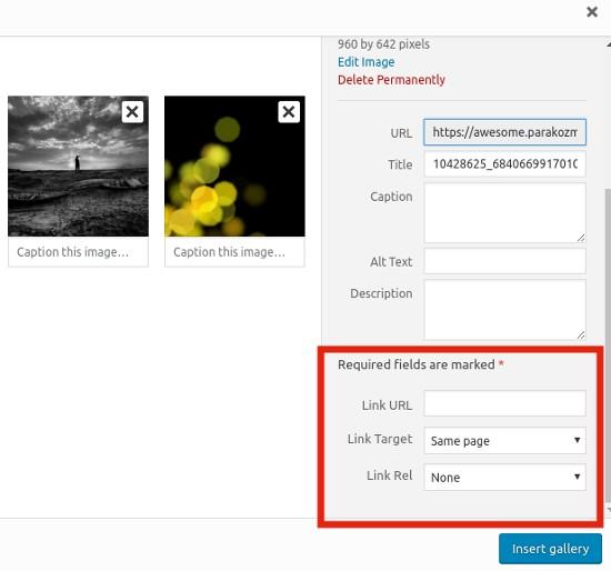 在WordPress中向畫廊圖像添加自定義鏈接