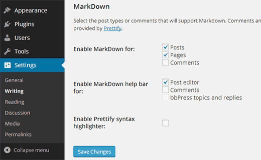 為WordPress帖子,頁面和評論啟用Markdown