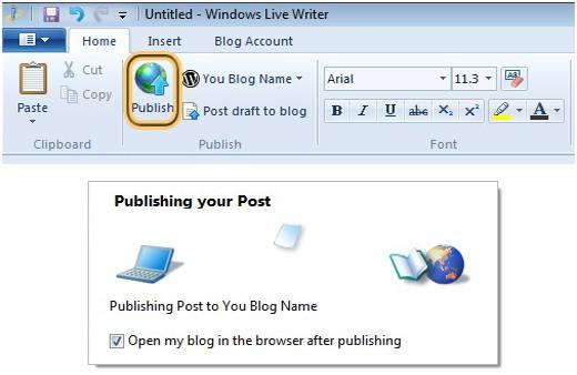 如何在Windows Live Writer中發布WordPress帖子