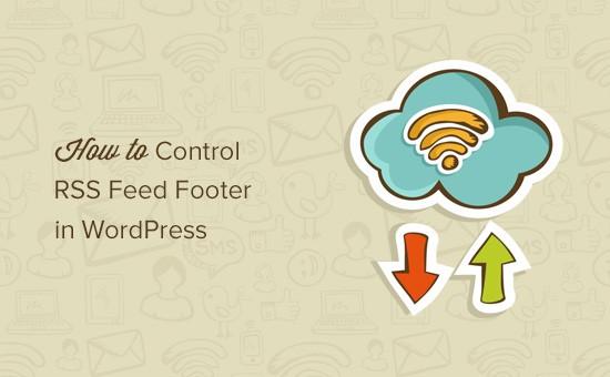 在WordPress中控制RSS Feed頁腳