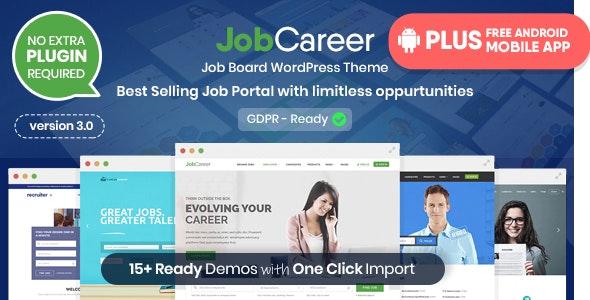 JobCareer v3.1 - Job Board Responsive WordPress Theme