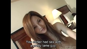 Subtitles unfaithful young and hairy Japanese wife fingered