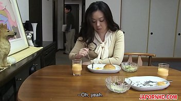 JAV Uncensored with english subtitle: Mom gives son blowjob before leaving