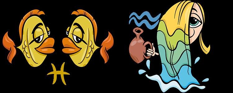 Совместимость знаков зодиака водолей с рыбой