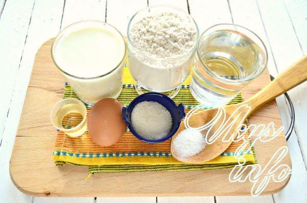 Рецепт дырчатых блинов на молоке