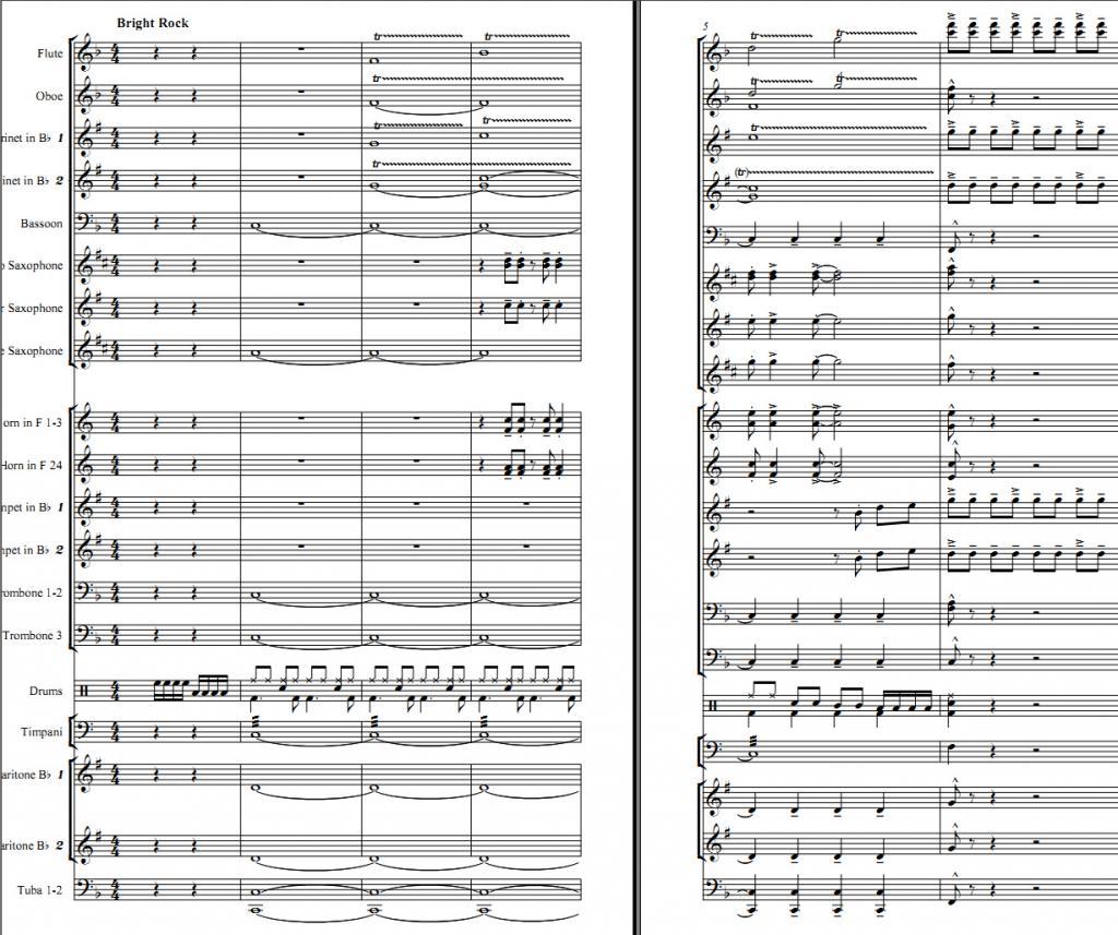 Ноты для духового оркестра - Sheet music for wind band