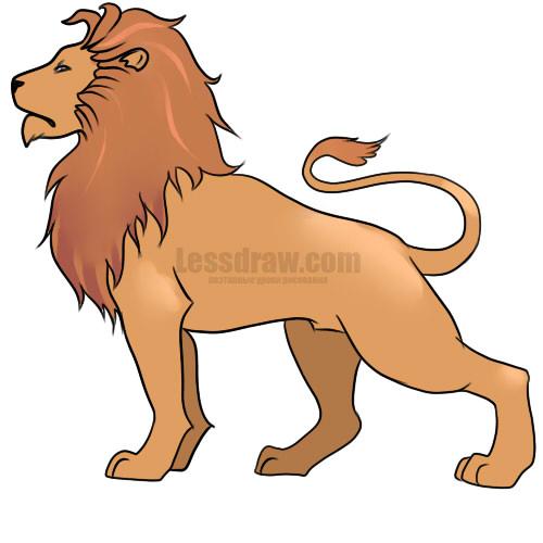 Как нарисовать знак зодиака лев карандашом поэтапно
