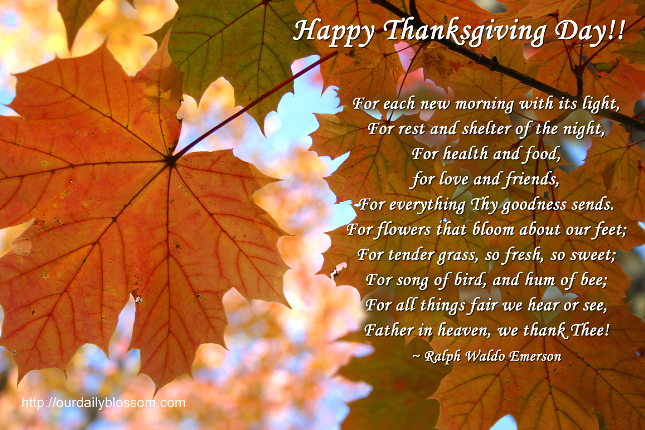 thanksgiving blessing for friends