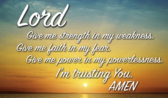 daily prayers for strength