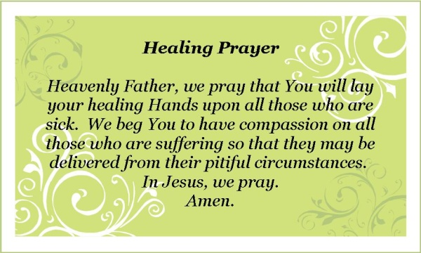 prayer for recovery after surgery