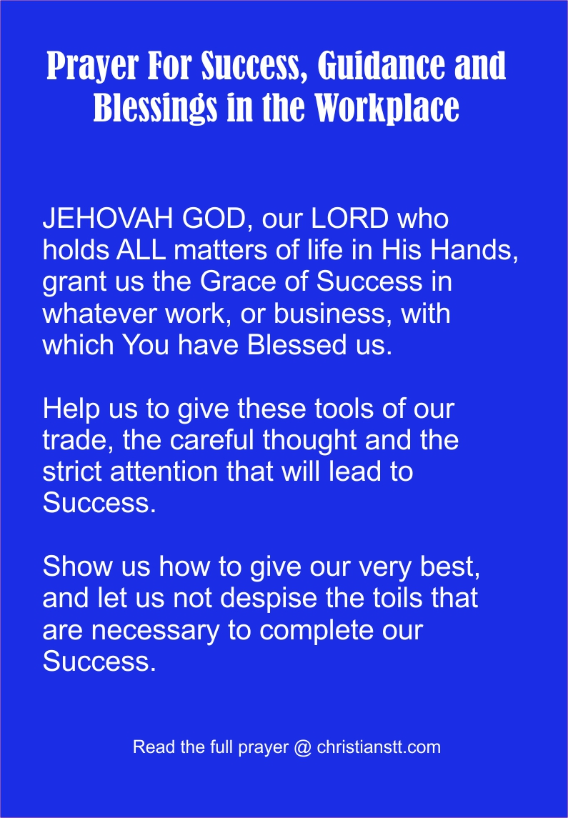 prayer for workplace problems