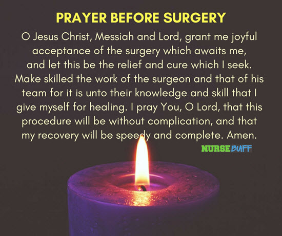 a prayer for my sister before surgery
