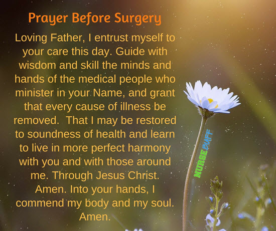 prayer for speedy recovery after surgery