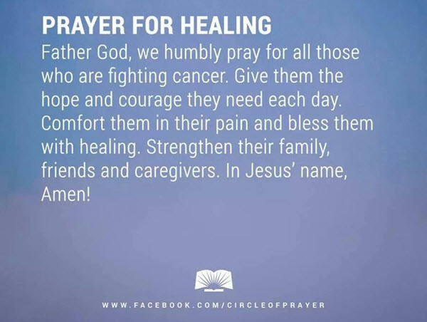 healing prayer for a friend with cancer