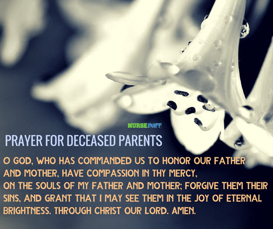 prayer for the deceased family