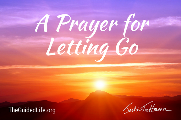 letting go prayers