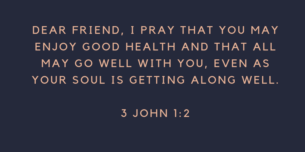 prayer for good health and healing