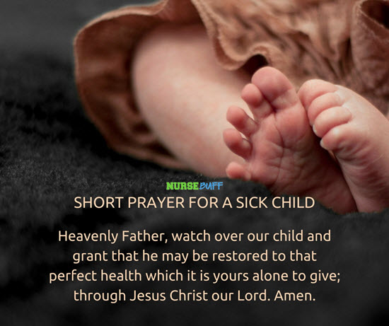 prayer for the healing of a child