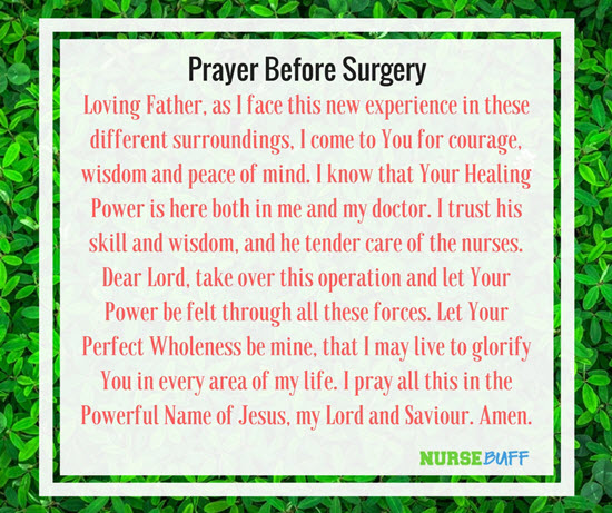 recovery from surgery prayer