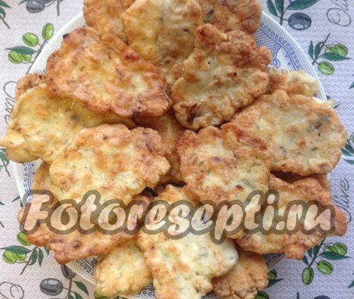 рецепт куриных оладьев