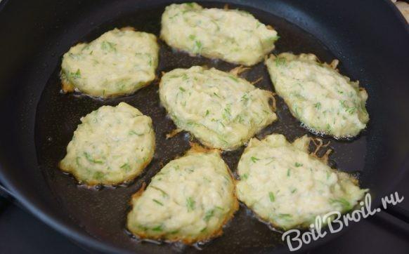 рецепт оладьев из кабачков с чесноком