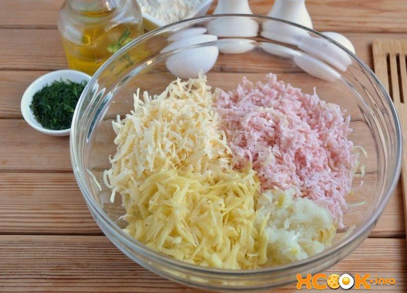 рецепт драников из картошки с сыром и ветчиной